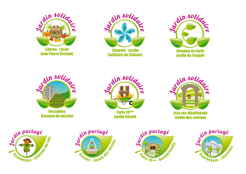 Logo jardin solidaire et partages xidipix for Logos de jardines